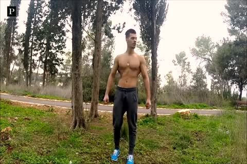 muscular Latino Arik Mozh Photoshoot And Jerking-off In The Car